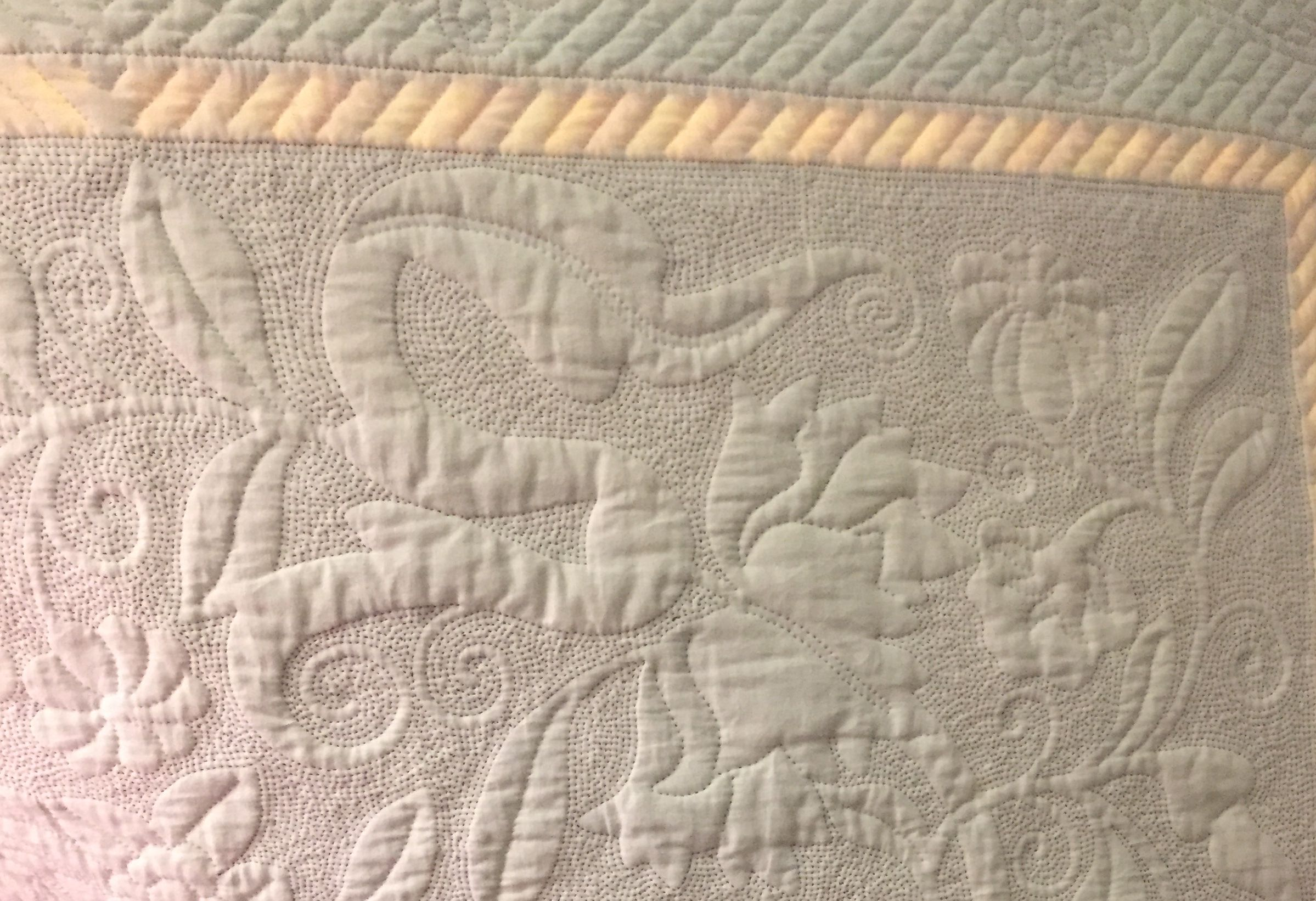 Image of the back of a quilt